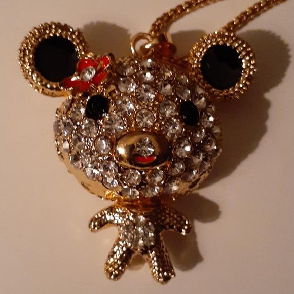 Nwot bling rhinestone flowerwhimsy baby teddy bear